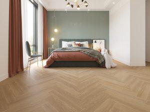 Impervia Herringbone Parquet flooring Champange Pale Oak P Code 1150XL-0