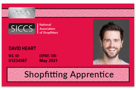Shopfitting Apprentice SICCS card (red)